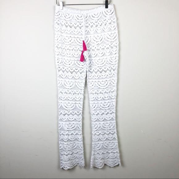 3e8bae39af980 Miken Swim | Crochet Cover Up Pants Festival Boho.  M_5a64f4fbdaa8f660b0e63bf6
